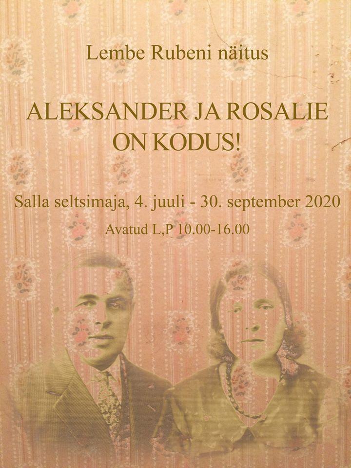 """Lembe Rubeni näitus """"Aleksander ja Rosalie on kodus!"""""""