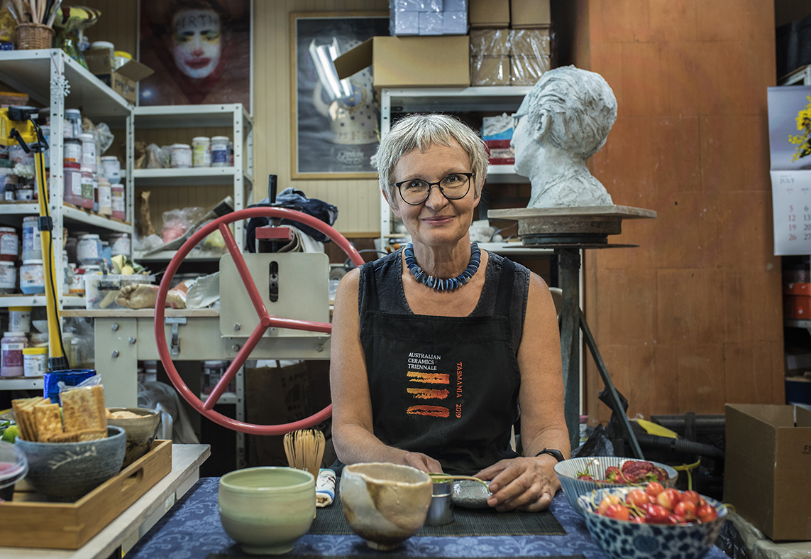 Ingrid Allik oma stuudios. Foto: Silvia Pärmann