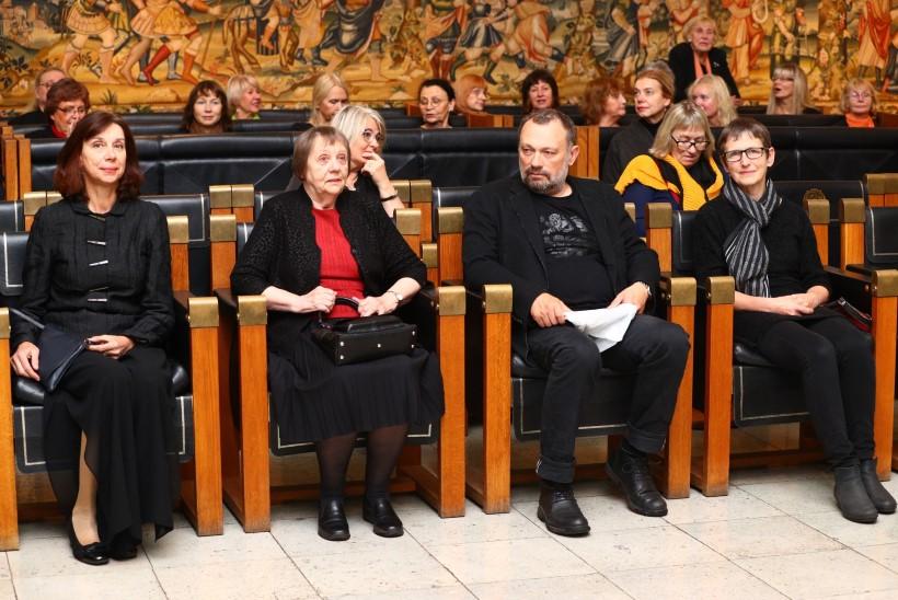 Laureaadid 2020: Anu Hint, Juta Keevallik, Anne Türn, Jaan Toomik. Foto: Robin Roots