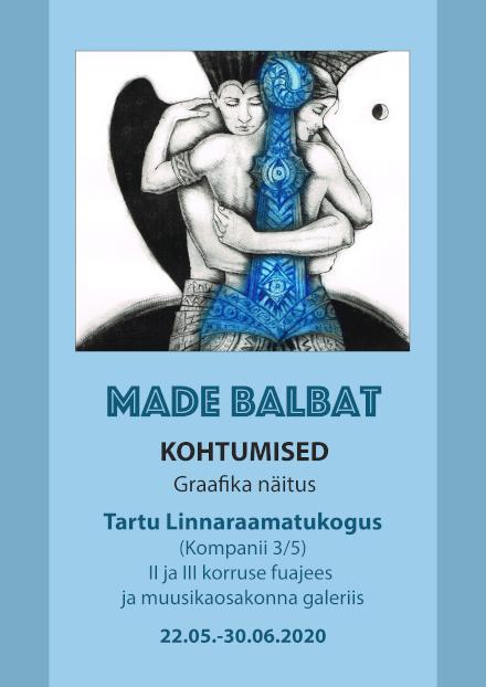 Made Balbati graafika Tartu Linnaraamatukogus