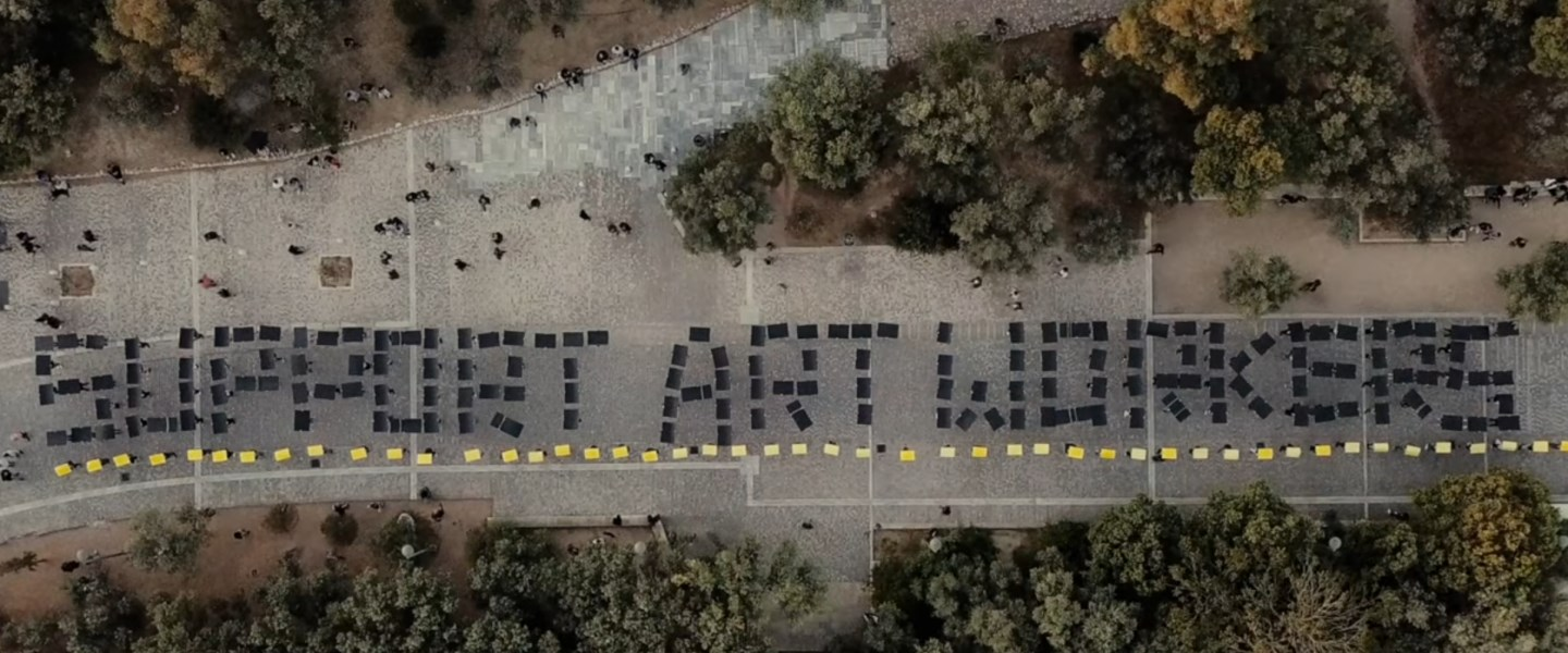 Image © #SupportArtWorkers campaign and public action