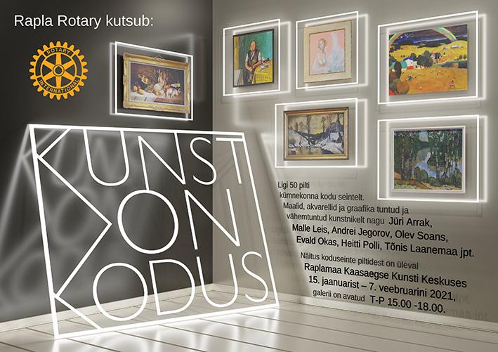 """""""Kunst on kodus"""" näitus Rotary kogudest Raplas"""
