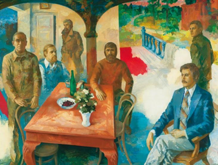 Olev Subbi, National Park art council, 1979. Oil and tempera on masonite